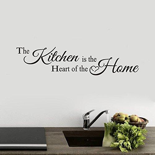 Topgrowth Adesivo Muro Scritte Adesive per Pareti La Cucina Home Decor Vinile Arte Murale Wall Sticker