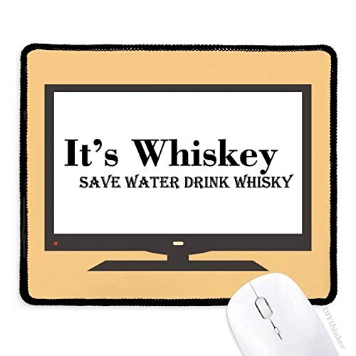 Het is Whiskey Save Water Drink Whiskey Computer Mouse Pad Antislip Rubber Mousepad Game Office