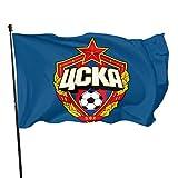 N/A Viento Bandera,Decoración Duradera De La Bandera CSKA Moscú para Las Casas Y Los Jardines 150X90Cm