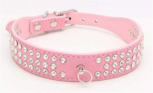 Ltong Strass Halsband Legering Diamant Puppy Kat Kraag Halsbanden Riemen voor kleine honden Mascotas Accessoires, 5, S