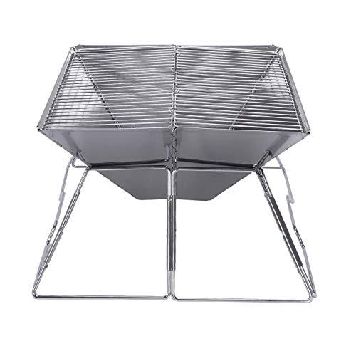 41k759QG9tL. SL500  - Outdoor Grill Grill Rack Folding Edelstahl Tragbare Wohnküche Camping Kochutensilien, Grillzubehör