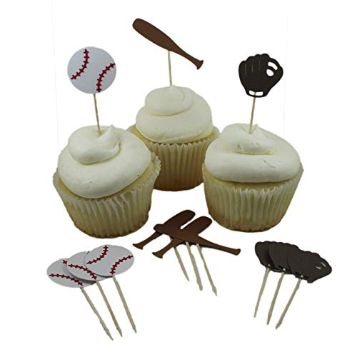 Baseball theme Cupcake Toppers Collection set of 12 Baseball themed Cupcake Topper sports Boy Birthday Party
