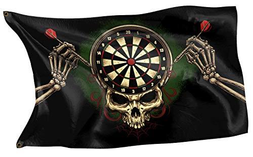 RAHMENLOS Original Design-Flagge für Dart-Spieler oder zur Deko