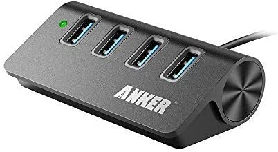Anker USB 3.0 4-Port Portable Aluminum Hub with 2-Foot USB 3.0 Cable (Carbon)