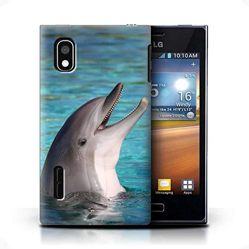 Stuff4 Hülle/Case für LG Optimus L5/E610 / Nettes Lachen Muster/Delfine Meereslebens Kollektion
