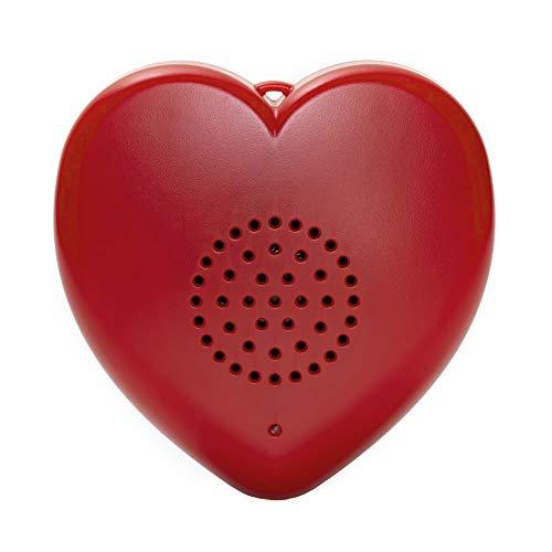 Talking Products, reproductor MP3 Talking Heart para juguetes de peluche y regalos, 8 minutos de mensajes grabables, ositos de peluche y recuerdo personalizado de latidos del corazón del bebé