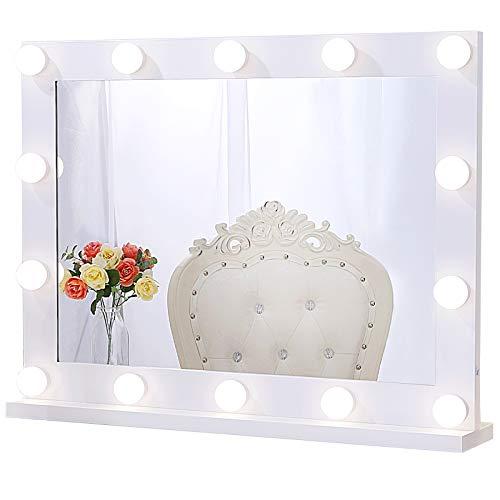 Chende Espejo de Maquillaje Hollywood con Luces para Pared, Espejo de Maquillaje...