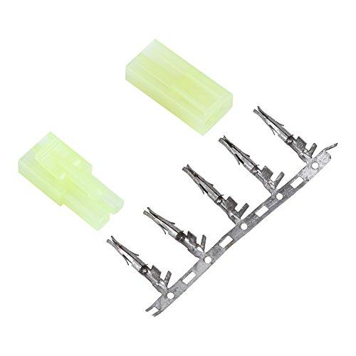 Dilwe 5 Paar Stecker, Kompatibel mit Tamiya Stecker Männlich Weiblich Stecker Buchse mit Pin
