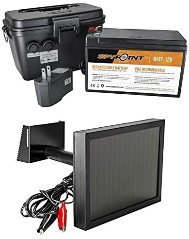 SPYPOINT 12V 公式ショップ Trail Camera Power Kit and SP-12V with Panel マーケット Solar
