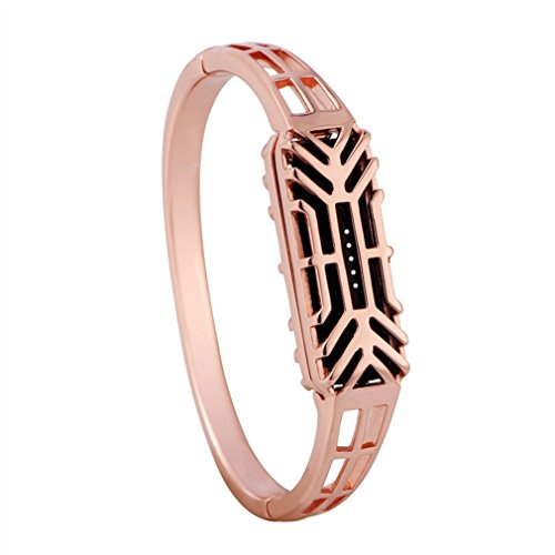 Vovotrade Fashion Pure koper antioxidatie accessoire armband horlogeband armband voor Fitbit Flex 2 (roze goud)