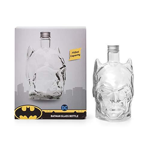 Thumbs Up ThumbsUp Batman Glaskaraffe 750ml-DC Comics, Glas, Klar, 17 cmx17,5cmx22xm