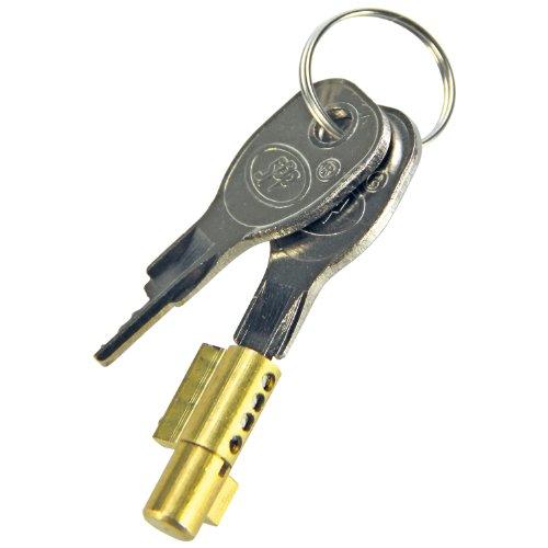 Cartrend 70403 Steckschloss für Anhänger Kugelkupplung mit 2 Schlüssel