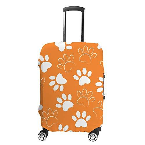 Ruchen - Funda protectora para maleta, diseño de huella de perro y gato, color...