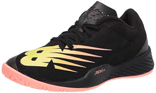 New Balance Women's 896 V3 Hard Court Tennis Shoe, Black/Ginger Pink, 9 W US