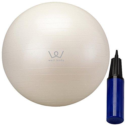 アルインコ(ALINCO) バランスボール 65cm エアーポンプ付 EXG025 ホワイト