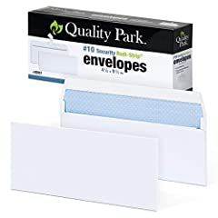 SAVE TIME WITH SELF-STICK: Quality Park #10 Security Envelopes have a strong peel & stick closure that helps you fly through mailings in record time ENHANCED SECURITY: Offer the protection clients deserve; a security tint makes envelopes hard to see ...