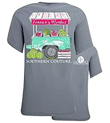 Southern Couture Comfort Farmers Market Womens Christian Tee - Granite
