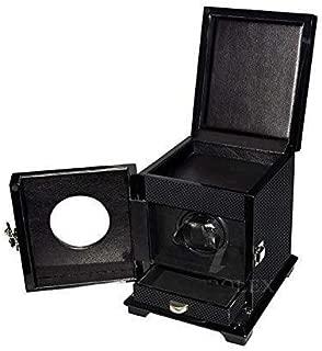 Enrollador Reloj automático Simple Motor Premium silencioso Doble con cajón Enrolladores rotación Simple Estuche Madera