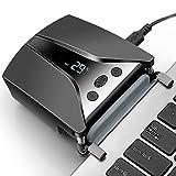 LC06吸引式ノートPC冷却ファン Switch冷却ファン pcクーラーファン コンパクト 静音 温度が表示され ファンスピード調整ができ USB給電式 手動/自動モード ノートPCの冷却台 スイッチの冷却