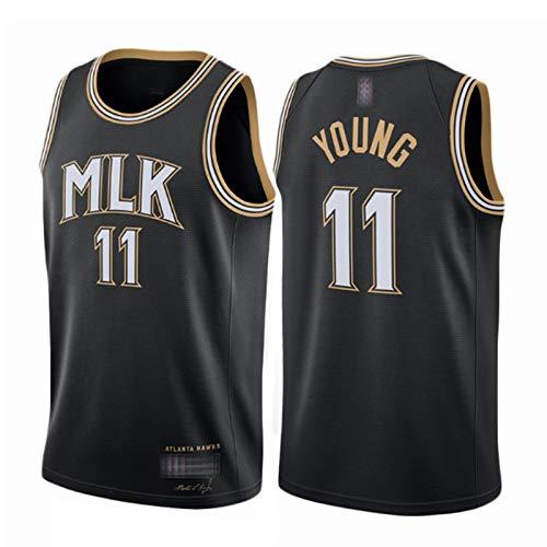 XGMJ Trae Young 11# - Camiseta de baloncesto para hombre, diseño de Atlanta Hawks 2021, edición de la ciudad, informal, para entrenamiento de competición, transpirable, de secado rápido, talla M