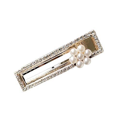 Dontdo Barrette à cheveux pour femme avec strass et fausses perles