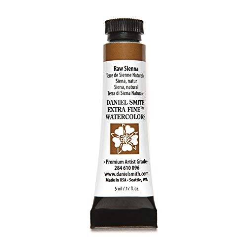 DANIEL SMITH Extra Fine Watercolor Paint, 5ml Tube, Raw Sienna, 284610096