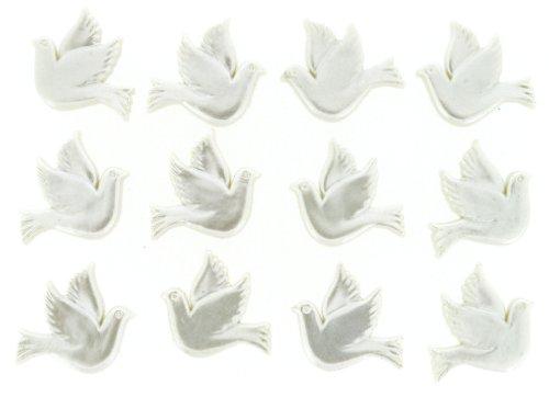 Robe It Up Bouton Colombes, en Plastique, Blanc, 20 x 20 mm, 12 pièces