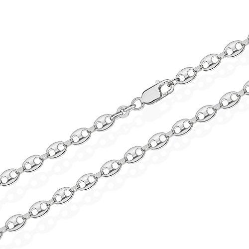 NKlaus 925 Silber Kaffeebohne Bohnenkette 5023 Armband 18cm 4,0mm 4,2gramm