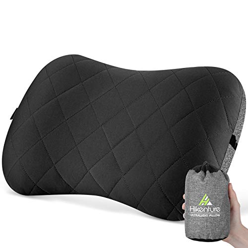 Hikenture Camping Pillow with Removable Cover - Ultralight Inflatable Pillow for Hiking,Backpacking - Upgrade Comfortable Ergonomic Air Pillow for Neck Support - Soft Travel Pillow In Car,Beach,Office