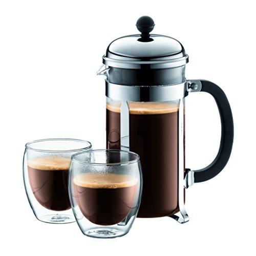 Bodum 1928-16US4 Chambord French Press Coffee Maker, 1 Liter, 34...