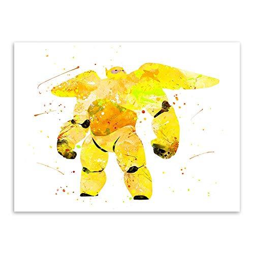 Geiqianjiumai Dibujos de Acuarela habitación para niños Arte de Pared Abstracto Moderno póster de película de Anime Impresiones Regalo sin Marco Pintura sobre Lienzo 30x40 cm