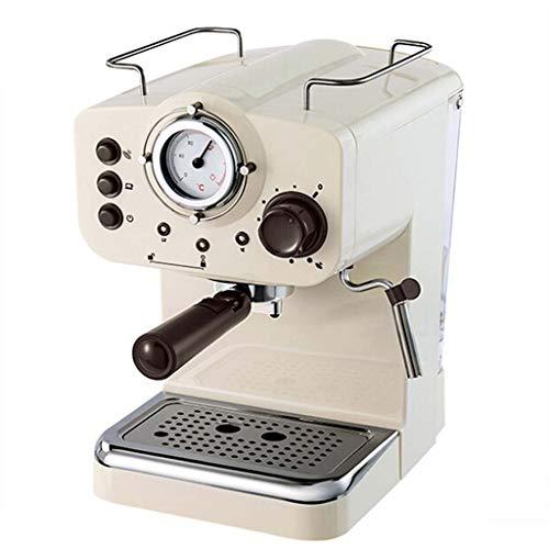 Espresso Machine 15Bar Pump Coffee Machine Retro Espresso Machine White Semi-automatic Commercial Milk Machine