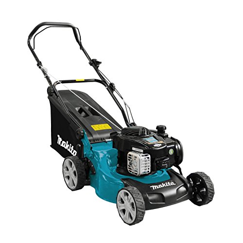 Makita PLM4120N Benzin-Rasenmäher 41 cm, Schwarz, Blau, Grau