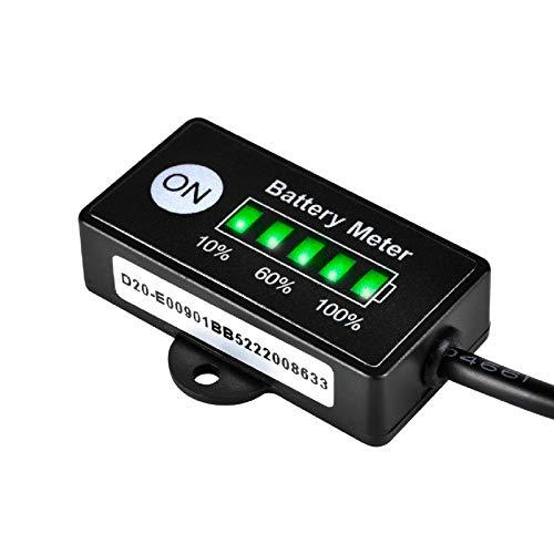Jayron JR-BI005 Mini LED Indicador de batería Batería Indicadores de combustible para batería general 12V 24V (batería LiCoO2)