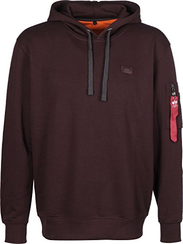 Alpha Industries X-Fit Basic sweat à capuche deep maroon
