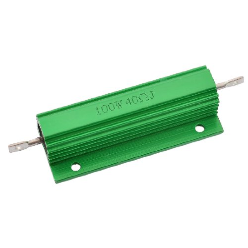 Aexit Chassis Mounted Fixed Resistors Aluminum Shell 100W Watt 40 Ohm Single Resistors Wirewound Resistor