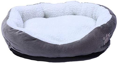 YLCJ Grotbed voor honden Ronde of ovale put in neststapels voor huisdieren Bed voor katten Voor katten en kleine honden 50 * 40 cm (Kleur: grijs), Grijs