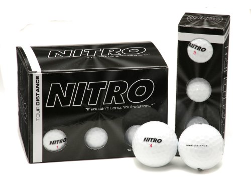 Nitro Tour Distance Golf Balls (Pack of 12, White)