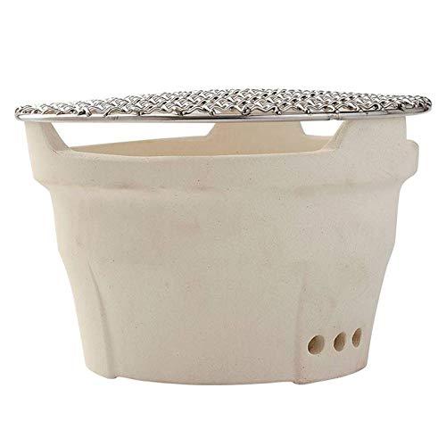 XX Parrilla japonesa de carbón para el hogar de carbón de leña de arcilla pequeña estufa de tierra estufa de carbono para interior sin humo barbacoa de carbón (a)