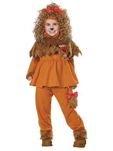 California Costumes Girls Courageous Lion of Oz Toddler Costume, Tan, TD (4-6)