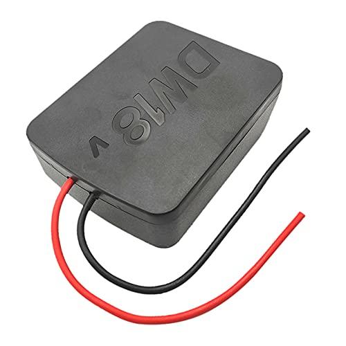 P Prettyia Adaptador de Ruedas Eléctricas de Litio para Conector de Alimentación de Base de Batería de 18 V
