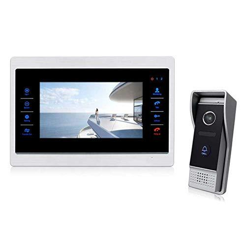 DBM-TOR Sistema de intercomunicación de la Puerta del teléfono de la Puerta del Video Sistema de Entrada de Puerta con Pantalla LCD de 7 Pulgadas Intercomunicador a Prueba de Lluvias