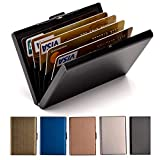 Credit Card Holder Stainless Steel Credit Card Case Metal ID Card Holder RFID Wallets Business Card...