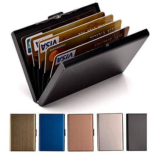 Credit Card Holder Stainless Steel Credit Card Case Metal ID Card Holder RFID Wallets Business Card Holder for Women or Men