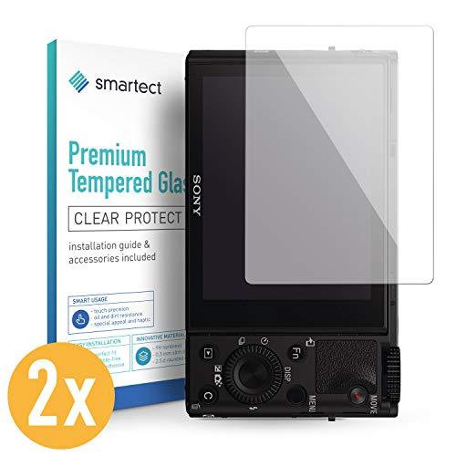 smartect Panzerglas kompatibel mit Sony DSC-RX100 III [2 Stück] - Bildschirmschutz mit 9H Härte - Blasenfreie Schutzfolie - Anti Fingerprint Panzerglasfolie