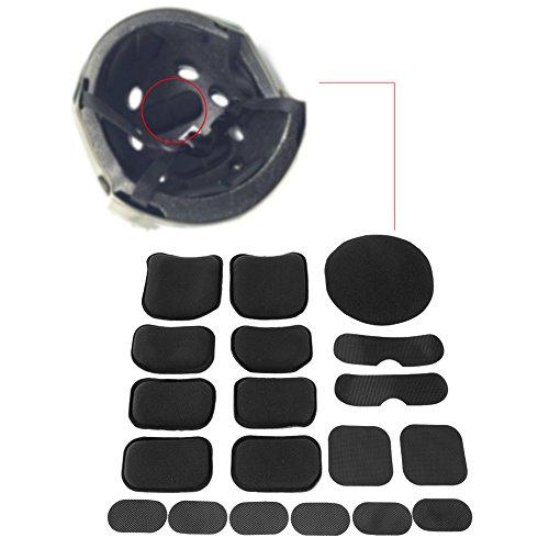 YHG Weiche Helm-Pads, 19 Stück Helm-Ersatz-Schaumstoff-Pads, EVA-Schaumstoff-Einlage, Fahrradhelm-Zubehör, Matten für Fast Mich CS ACH FMA USMC PASGT