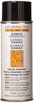 Grumbacher Damar Matte Varnish Spray For Oil Painting 11.25 oz Can