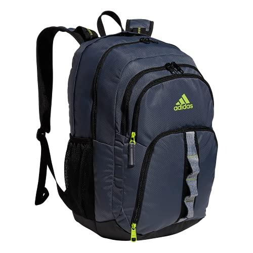 adidas Mochila Prime 6, Unisex, Mochila, 976541, Onix Grey/Black/Semi Solar Slime Green, Talla única