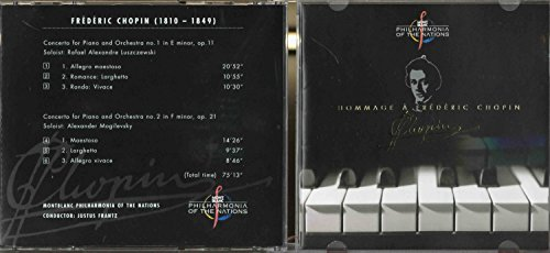 MONTBLANC PHILARMONIA OF THE NATIONS - JUSTUS FRANTZ / HOMMAGE A FREDERIC CHOPIN (CD)