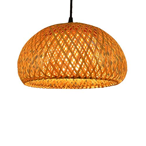 Sunny Hill Chinese Hand Knitted Bamboo Pendant Lamp LED Bamboo Lantern Shades Restaurant Dining Room Lighting Fixtures (Without Bulb) (Style 1)